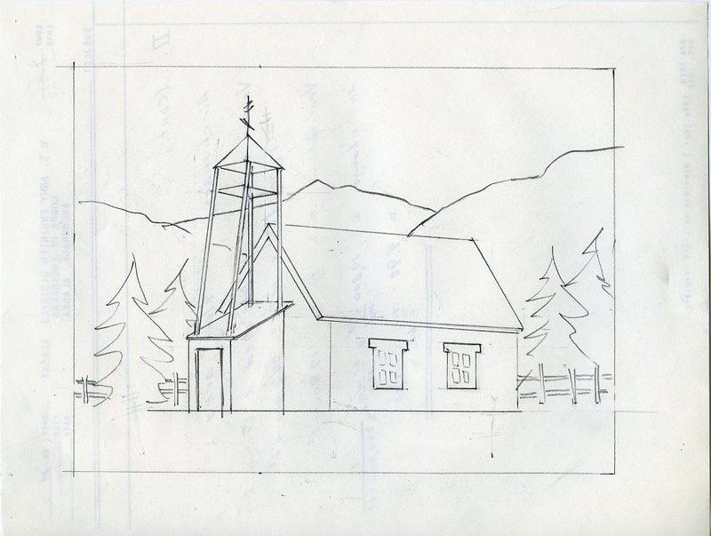Sketch of St. Nicholas Russian Orthodox Chapel