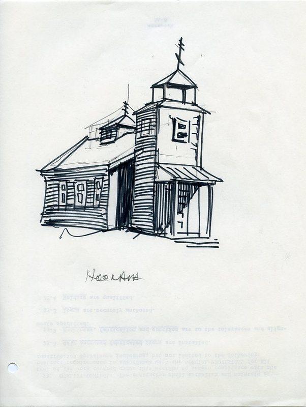 Drawing of St. Nicholas Russian Orthodox Church