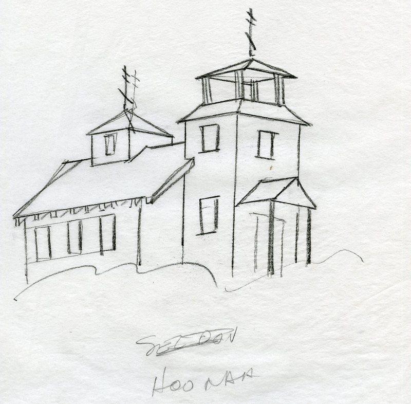 Sketch of St. Nicholas Russian Orthodox Church