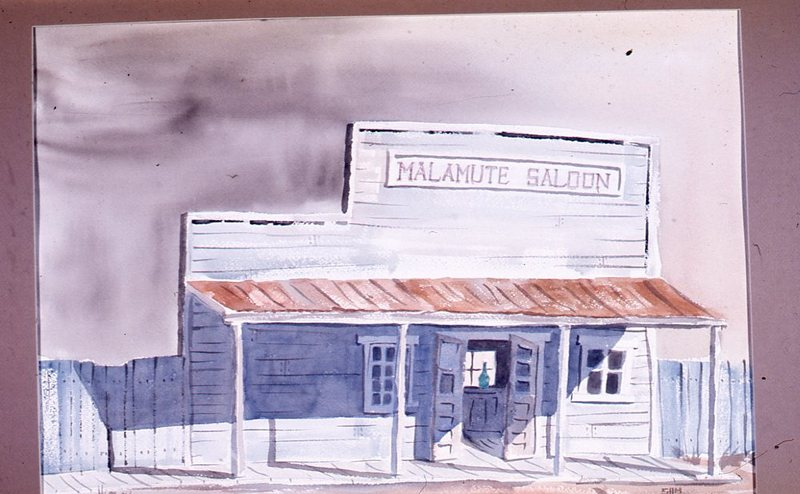 Sketch of the Malamute Saloon