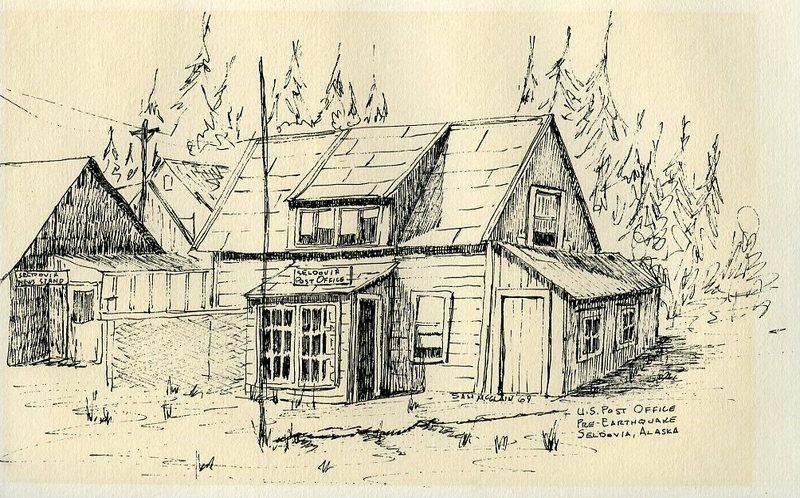 U.S. Post Office, pre-1964 earthquake, in Seldovia