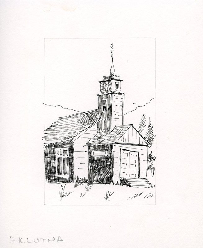 St. Nicholas Russian Orthodox Chapel sketch