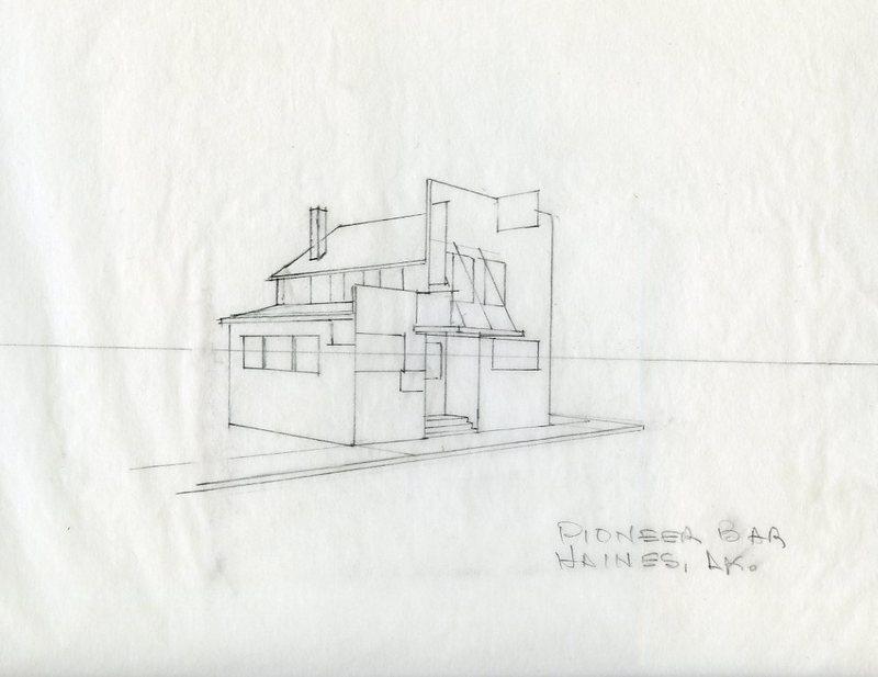Sketch of the Pioneer Bar
