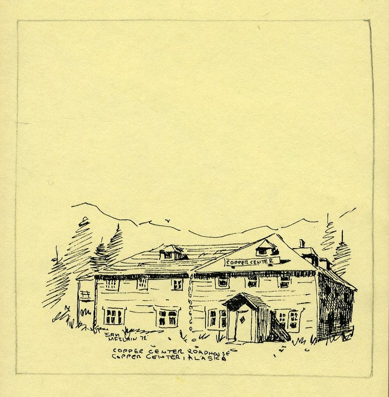 Sketch of Copper Center Roadhouse and Trading Post