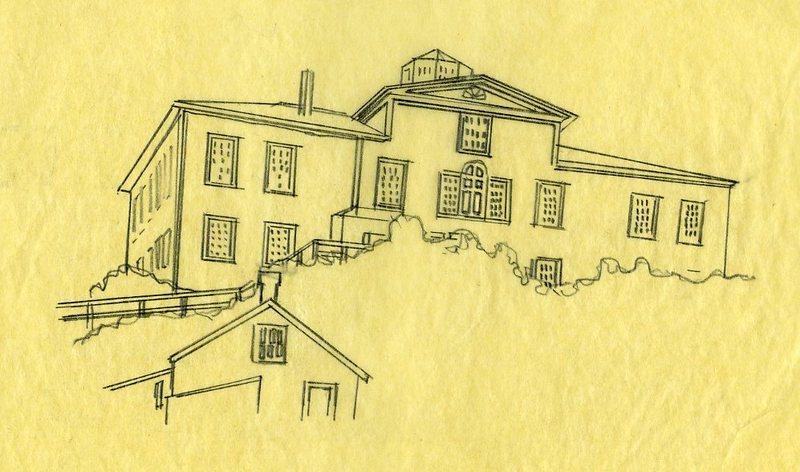 Sketch of Baranof Castle in Sitka