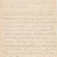 H.C. Wilson letter, 1891