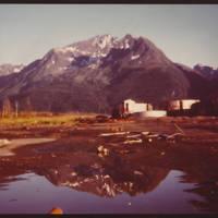 Abandonded buildings in Valdez, Alaska, 1969