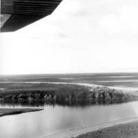 Flying in to Noorvik, 1968.