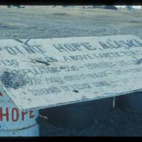 Point Hope, Alaska airfield sign.