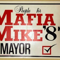People for Mafia Mike campaign poster, 1987