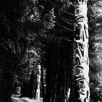 Totem poles along Lover's Lane