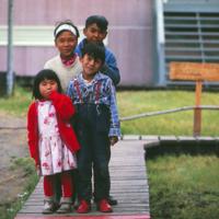 Schoolchildren in Noorvik, 1966.