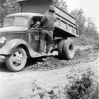 Dump truck, Alaska Highway construction