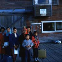 Dora Andre and grandchildren, Chignik.