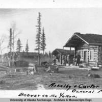 Ashelby & Carter. General M[erchan]d[i]se. Beaver on the Yukon, 1910