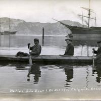 Native Skin Boat (Bidarky), Chignik, Alaska.