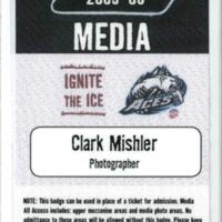 Alaska Aces press pass, 2006