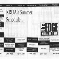 KRUA programming schedule, 1993