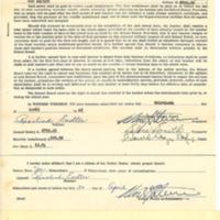Public school teacher contract, 1945