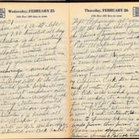 Tourist diary entry, 1931