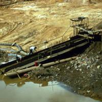 Gold sluice Manley Hot Springs.