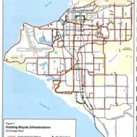 Bicycle infrastructure map, 2009