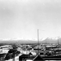 Anchorage cityscape, 1939