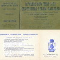 Moose Gooser Railroad ticket, 1967