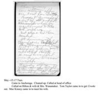 Walter Todd diary entry, 1917