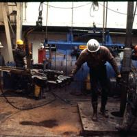 BP oil rig, 1975
