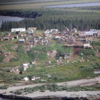 Noorvik, aerial view.