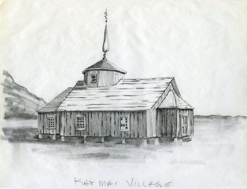 Drawing of Russian Orthodox Church