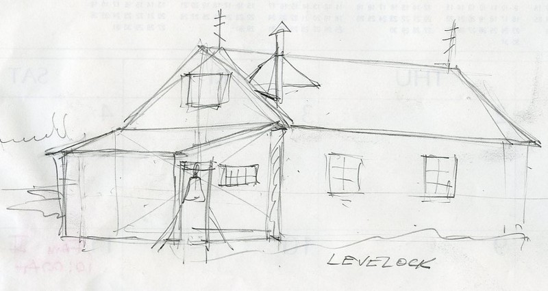 Sketch of Protection of the Holy Theotokos Russian Orthodox Church in Levelock