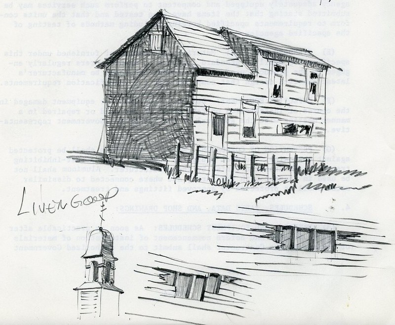 Sketch of a building in Livengood
