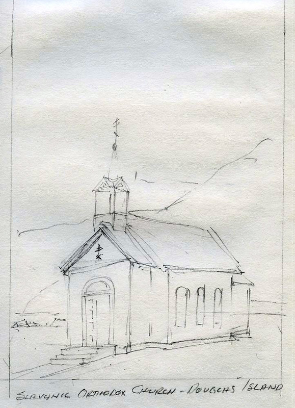 St. Sava Orthodox Church sketch