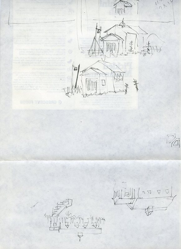 Sketches of a Russian Orthodox Church in Savonoski