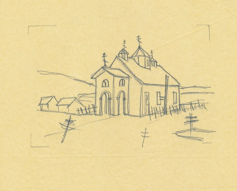 Holy Resurrection Orthodox Church sketch