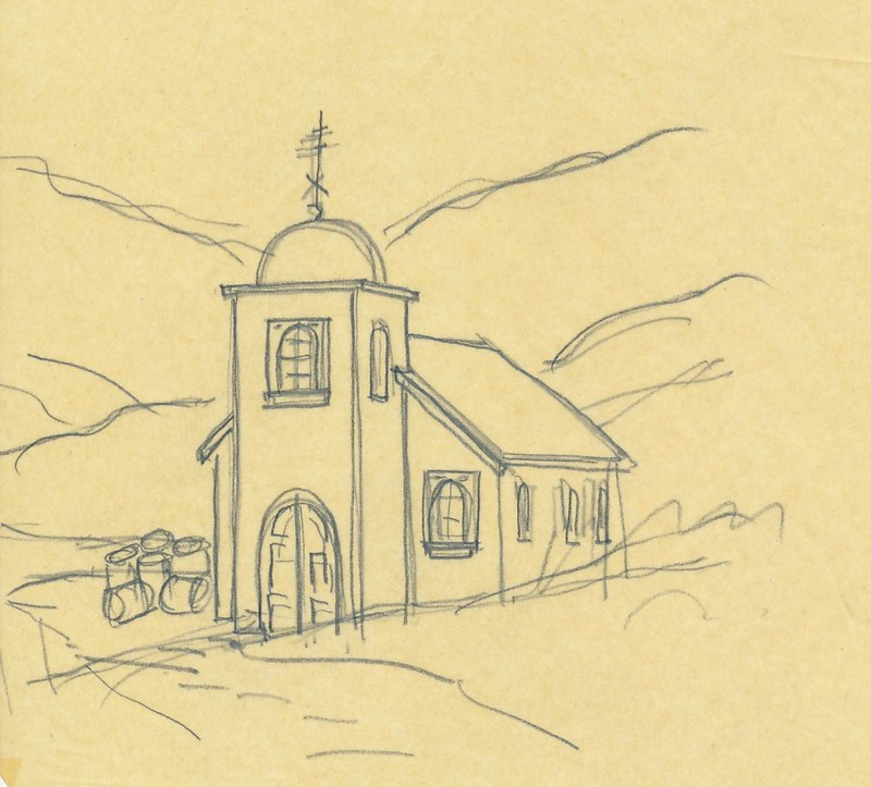 Sketch of Holy Assumption Russian Orthodox Church
