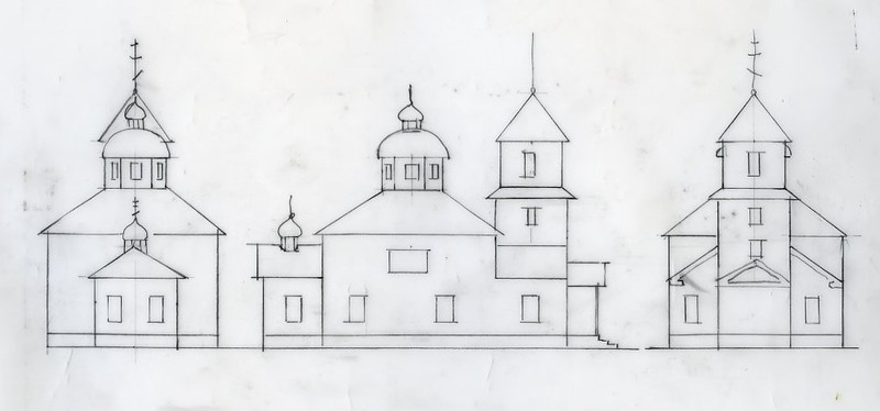 Sketches of Elevation of the Holy Cross Church, Russian Mission