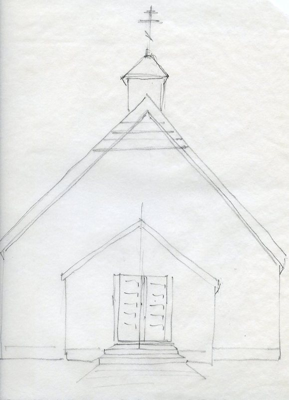 Sketch of St. Michael the Archangel Russian Orthodox Church