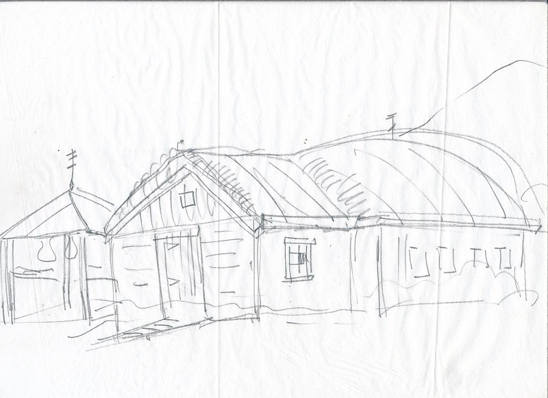 Sketch of Early Russian Orthodox Church American Chapel