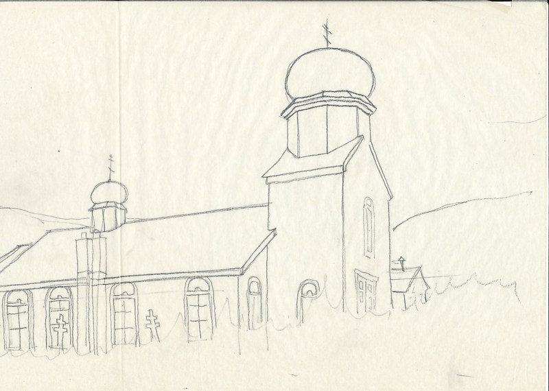 St. Nicholas Orthodox Chapel sketch