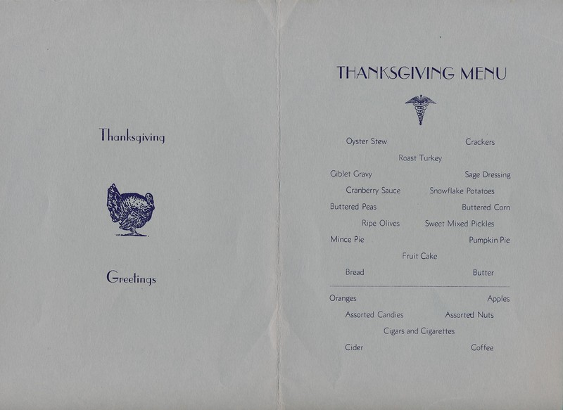 Thanksgiving, Station Hospital, Fort Richardson, 1941