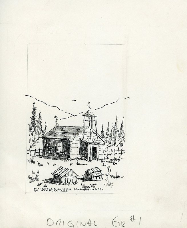 St. Nicholas Russian Orthodox Chapel and Cemetery sketch