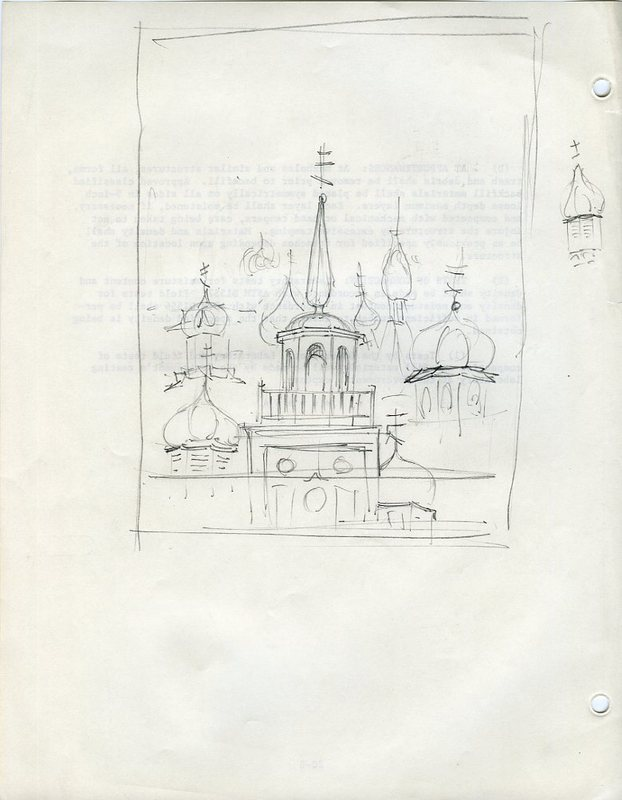Sketches of steeples