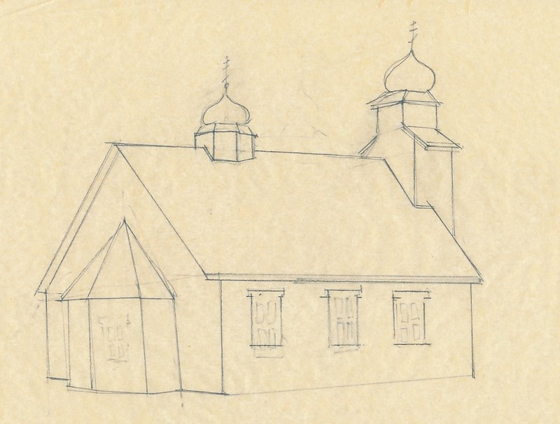 Sketch of St. Nicholas Orthodox Chapel