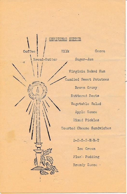 Christmas Supper, 1943, 53rd Infantry Regiment, Alaska Department