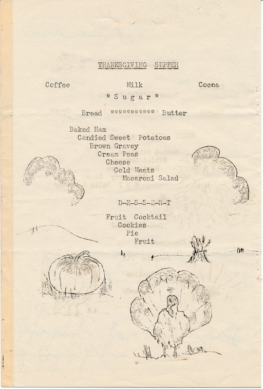 Thanksgiving Supper, 1943 November, 53rd Infantry Regiment, Alaska Department at Adak Army Air Field