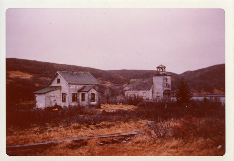 St. Nicholas Russian Orthodox Church and a house in Sand Point