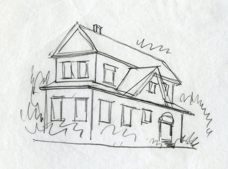 Sketch of building, Juneau